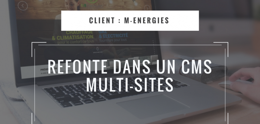 Refonte dans un CMS Multi-sites des sites web du groupe M-Energies